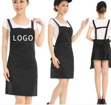 20pcs Apron custom printing restaurant kitchen anti - oil gowns adult cute waiter overalls aprons(China)