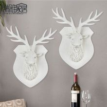 Wall-Mounted Resin Mini-deer Living Room Bar And Cafe Modern Shop Window Home Decoration Animal Deer Head Craft Decoration(China)