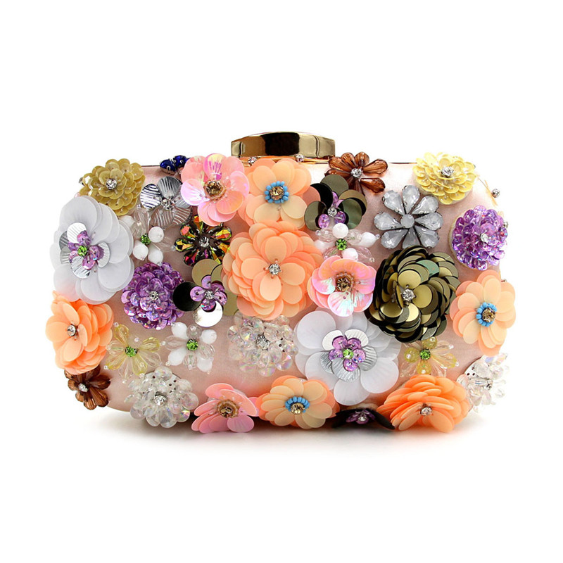 New Arrival Luxury Women Flower Evening Bag Wedding Party Shoulder Bags Women Clutch Purse 2017 Designer Clutches Bags JXY823<br><br>Aliexpress