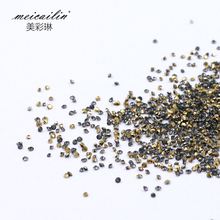 1440pcs/bag AB Mini Caviar Beads Nail Rhinestone Decoration Micro Diamonds Zircon Crystal Round 3D Nail DIY Decorations(China)