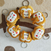 Cute Emoji Monkey Toy Smiley Emoticon Stuffed & Plush Key Chains Phone Emoji Keychain Emoticon Key Ring Toy