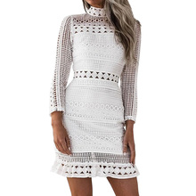Buy Summer Autumn Dress 2018 Women Casual Beach Short Dress White Mini Lace Patchwork Dress Sexy Party Dresses Vestidos for $11.09 in AliExpress store