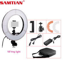 "SAMTIAN Studio/Video/Photo Ring Lamp Dimmable 18"" 55W 5500K LED Ring Light Video Lighting Kit for Photography Lighting"