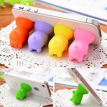 3pcs Mobile phone accessories supplies cute animal fat pig subber sucker holder stand for cell phones ipad and tablets wholesale