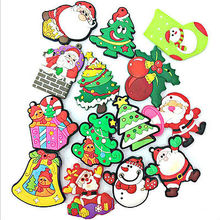 1pc Cute Christmas Refrigerator PVC Magnetic Creative Cartoon Snowman Reindeer Fridge Magnets Santa Claus Tree(China)