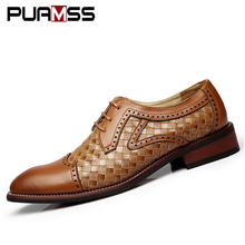 New Business Men Casual Shoes Handmade Breathable Comfortable Jeans Brand Men Shoes Leather Flat Men Oxfords Formal Shoes