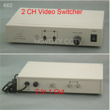 Free Shipping 2 In 1 Out Composite BNC Video Switcher For CCTV Security System