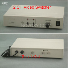 Free Shipping 2 In 1 Out Composite BNC Video Switcher For CCTV Security System(China)