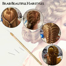 4 Sizes Ventilating Needles + 1 Brass Holder Make Repair Lace Wigs Toupee Hairpiece Knotting Hook Set Hair Extension Tool(China)