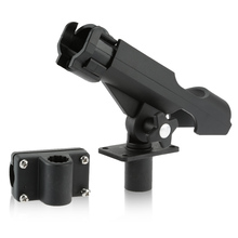 Kayak Rod Holder Side Rail Installation or Directly Installed on Kayak & Boat Fishing Pole Rod Holder Propene polymer Black(China)