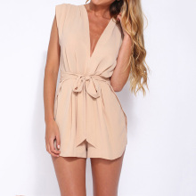 Makkrom 2017 Summer Women Jumpsuit Romper Overalls Casual Sexy Playsuits Regular Fashion Solid Pink Elegant Jumpsuit