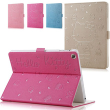 Hot selling Cartoon Hello Kitty Pattern Flip Stand Leather Case Cover For iPad Mini 1 2 3(China)