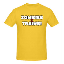 RTTMALL Cotton Short Sleeve Zombies and Trains Top Quality Men's T shirt Top Big Discount Round Neck Geek Large Size Men T Shirt(China)