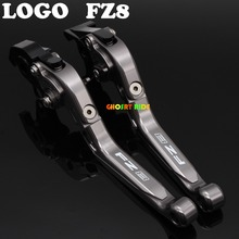 Laser Logo(FZ8) Full Titanium CNC Folding Extendable Motorcycle Brake Clutch Levers For Yamaha FZ8 2011 2012 2013 2014 2015