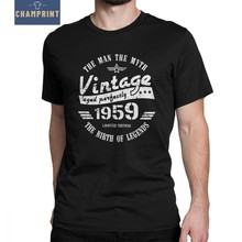 Vintage 1959 60th Birthday Gift For Men T Shirts Mans Anniversary Shirt Original Clothes