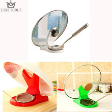 New Useful Spoon Pot Lid Shelf Cooking Storage Kitchen Decor Tool Stand Holder(China)
