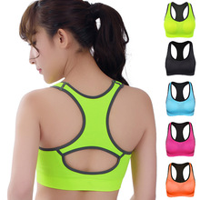 HOT Professional Women Fitness exercise Sports Bra Push Up Breathable Yoga Bras Underwear GYM lady Running Neon Color Quick Dry