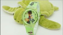 Cartoon Ben 10 ten Child Girls Kids Wrist Watch 10 Colors Analog fashion watches wristwatch Drop shop 30M waterproof(China)