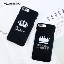 Lovebay Phone Case For iPhone X 8 7 6 6s Plus 5 5s SE Luxury KING Queen Matte Ultra Thin Hard PC Back Cover Cases For iPhone 8(China)