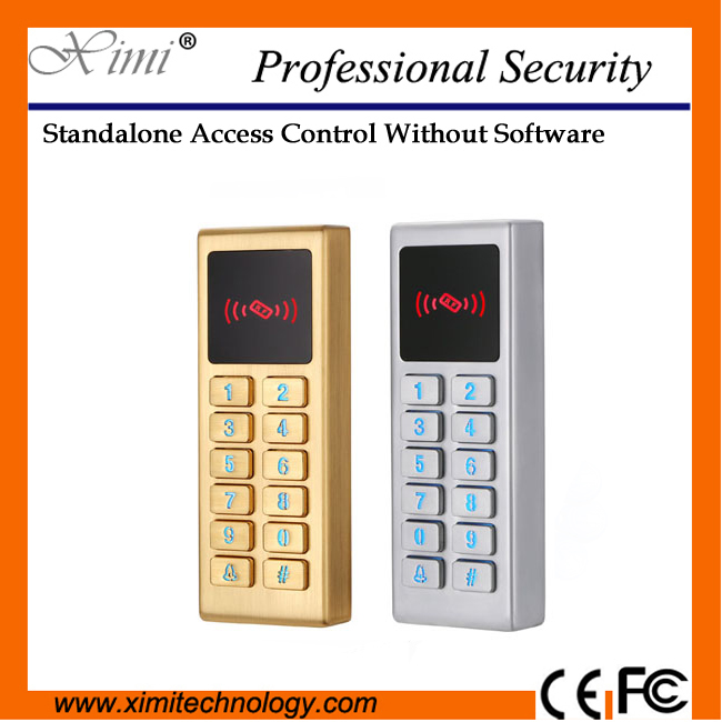 M10 Card and pin  IP65 Waterproof standalone access control without software RFID card with LED key security door access control<br>