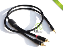 HIFI audio cable Audio signal line American palic plug 3.5mm convert two RCA plug