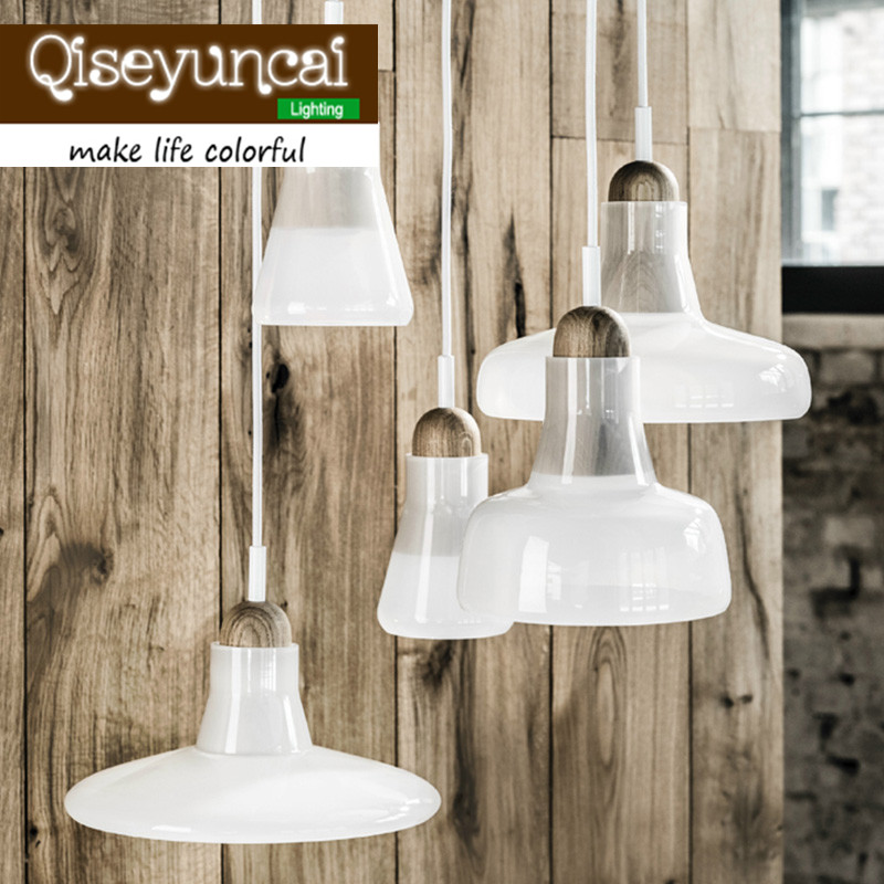 Free shipping Grey/White ABCD Modern minimalist Personality Creative Pendant Lights Shadow Crystal Glass Pendant Light<br>