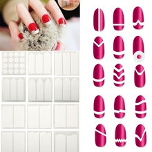 18Pcs/Lot Easy French Manicure Design Sticker Nail Tips Guide DIY Styling Fringe Sticker Nail Art Tips Nails Tape Design