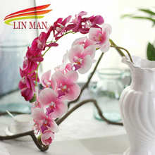Silk Orchid Artificial Flower heads For Party ,Big Butterfly Orchid Flowers for Wedding Decoration(China)