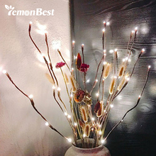 20-LED Branches Light Battery Powered Decorative Lights Lighted Branch for Home Wedding Decoration Waterproof IP44 Warm White(China)