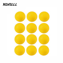 Kofull 12pcs/lot PU Foam Sponge Golf Practice Balls Indoor Outdoor Practice Training Balls Balle de golf Golf Pelotas Ballen(China)