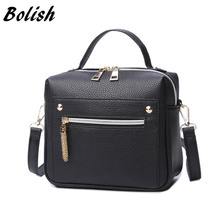 Bolish High Quality PU Leather Women handbag Small Women Messenger Bag Female Shoulder Bag Fashion Women Bags(China)