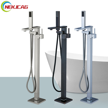 Bathtub Faucet Floor Mounted Tub Faucet Bathroom Shower Mixer Tap Hot and Cold Water Faucet(China)