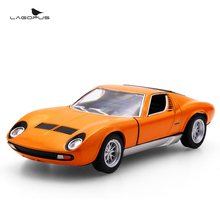 High Simulation Exquisite 1:32 Scale Car Toys Miura P400 Die-casts Metal Pull Back Car Model Toy Collection Gift For Kids New
