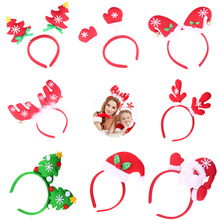 Shapu new Christmas Santa Claus Reindeer Antlers snow star bell girl children women fashion accessories hair hoop lady(China)