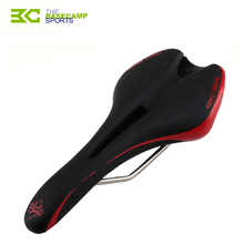 Basecamp bicycle saddle cushion mountain road bike saddles hollow high elasticity city race bike seat leather PU comfortable red