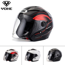 YOHE YH -868 Helmet Dual Shield Unisex Abs Shell 3/4 Open Face Helmet Motorcycle Helmet Motorbike Ece Quick Release System(China)