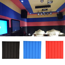 1pcs Soundproofing Foam Acoustic Panels FoamTreatment Studio Room Absorption Wedge Tiles Sound Insulation Noise Reduction(China)