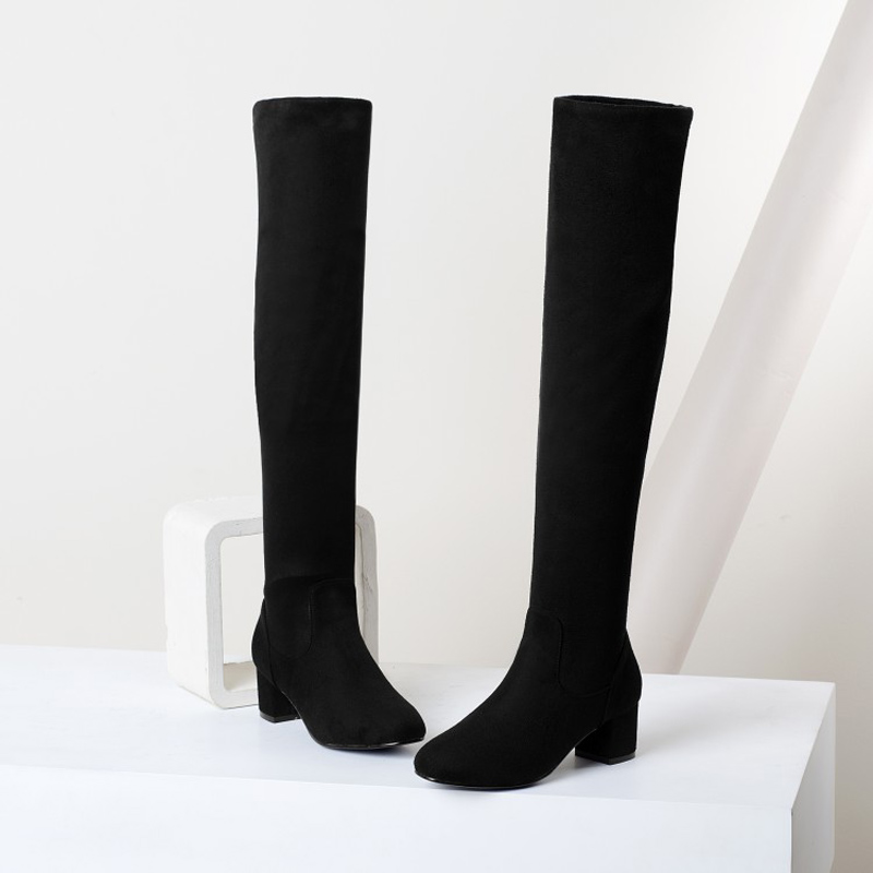 Long Boots Women Fashion Soft Leather Womens Boots Elegant Knee High Boots 2017 Winter Boots Women Comfortable Shoes Women<br><br>Aliexpress