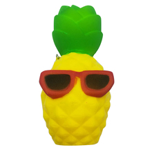 1 x Cool Pineapple Phone Straps Rising Bun Slow Squeeze Squishy Toys Charms Soft Bread Chain Mini Phone Straps Kids Toy Gift P25(China)