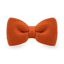 LF-311 Fashion New Arrival Knitted Crochet Men`s Bowtie Adjustable Orange Solid Neckwear For Men Party Bussiness Free Shopping