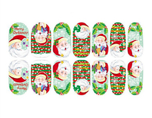 New Merry Christmas Nail Art Sticker Decal Water Transfer Tips Decals