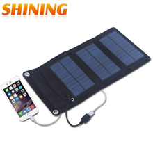 100% Real Solar Panel Fordable and Portable Solar Charger 5W Waterproof Solar Battery Board Charging In the Sun