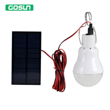 GOSUN 2W Solar Portable LED Bulb LED Solar Lamp Solar Panel Light LED Outdoor Camping Spotlight Garden Light(China)