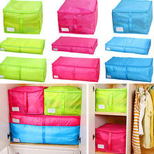 Fashion Large Non-woven Space Saver Clothes Quilt Blanket Storage Bag Box Organizer Home Travel Storage Bags(China)