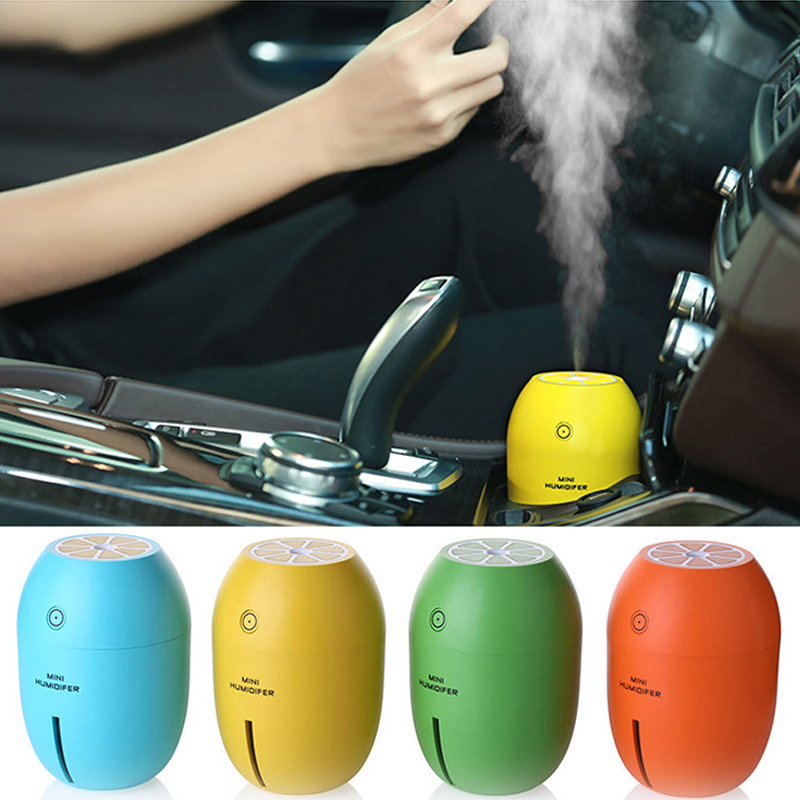 Car air freshener Car Humidifiers180ML Lemon Ultrasonic USB Portable DC With LED Light Office Home Air Purifier MistMaker ruijie(China (Mainland))