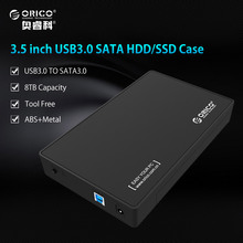 ORICO 3588US3-BK 3.5 Inch HDD Enclosure Case USB 3.0 5Gbps to SATA Support UASP and 8TB Drives Designed for Notobook Desktop PC(China)