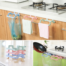 Garbage Bags Storage Rack Trash Bag Holder Cupboard Door Back Style Stand Towel Rack Dish Cloth Hanger
