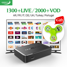 Smart TV Set Top Box Linux mag 250 Media Player With QHDTV 1 Year Account 1300+ Live HD IPTV Arabic Europe French Italy Channels