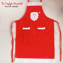 Cute  Santa Christmas Apron  Merry Christmas Kitchen Decoration Aprons  Dinner  Party Table Decoration