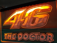 LD542- Valentino Rossi 46 The Doctor LED Neon Light Sign